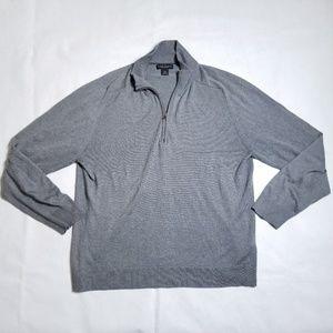 Banana Republic Silk/Cashmere Zip Pullover